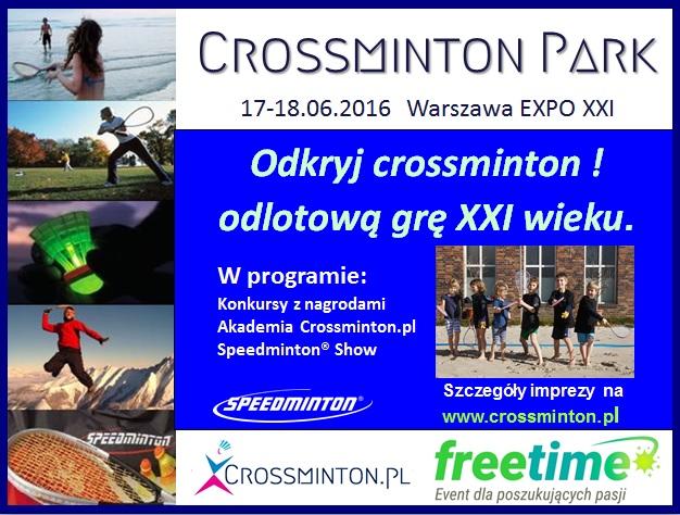 CrossmintonParkFreeTimePlakat